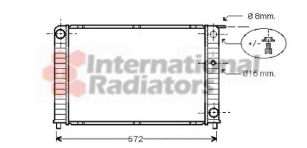 Radiateur, refroidissement du moteur - VAN WEZEL - 59002088