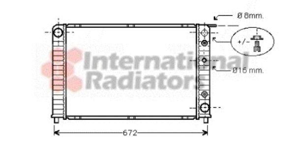 Radiateur, refroidissement du moteur - VAN WEZEL - 59002089