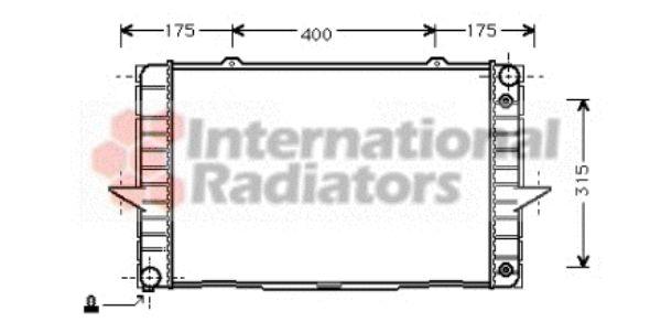 Radiateur, refroidissement du moteur - VAN WEZEL - 59002092