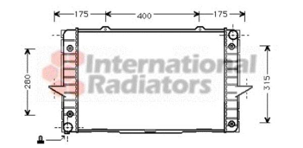 Radiateur, refroidissement du moteur - VAN WEZEL - 59002093
