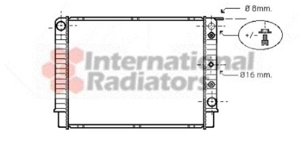 Radiateur, refroidissement du moteur - VAN WEZEL - 59002098