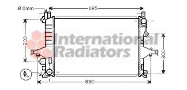 Radiateur, refroidissement du moteur - VAN WEZEL - 59002114