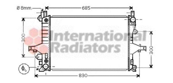 Radiateur, refroidissement du moteur - VAN WEZEL - 59002115