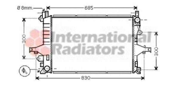Radiateur, refroidissement du moteur - VAN WEZEL - 59002116