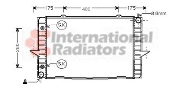 Radiateur, refroidissement du moteur - VAN WEZEL - 59002118