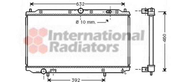 Radiateur, refroidissement du moteur - VAN WEZEL - 59002124