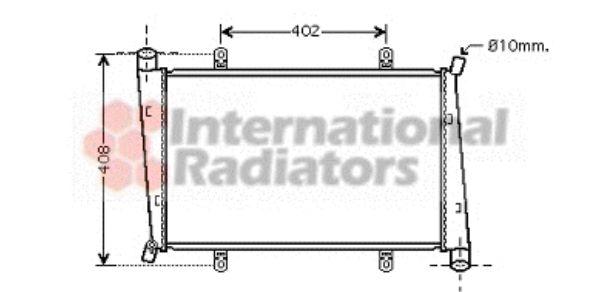 Radiateur, refroidissement du moteur - VAN WEZEL - 59002130