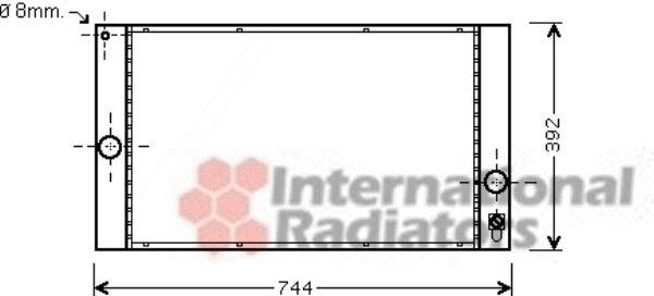 Radiateur, refroidissement du moteur - VAN WEZEL - 59002141