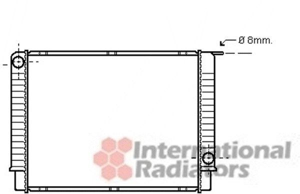 Radiateur, refroidissement du moteur - VAN WEZEL - 59002145