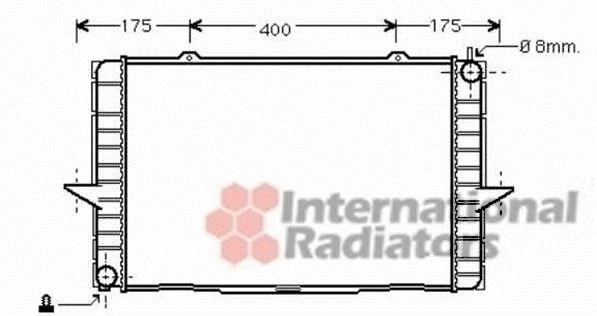 Radiateur, refroidissement du moteur - VAN WEZEL - 59002148