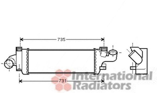 Intercooler, échangeur - VAN WEZEL - 59004134