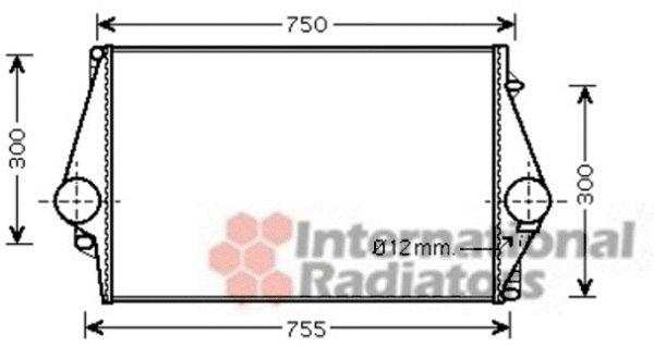 Intercooler, échangeur - VAN WEZEL - 59004137