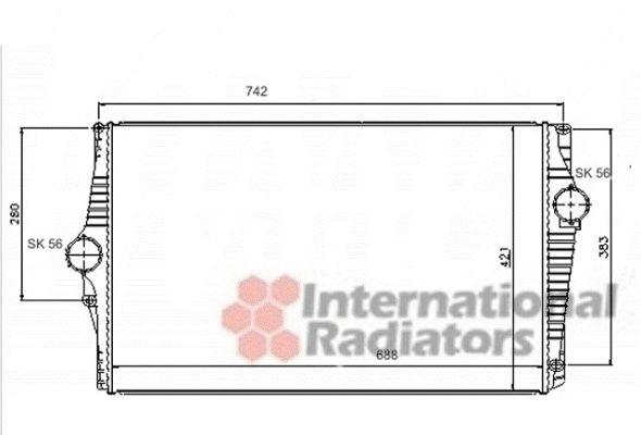 Intercooler, échangeur - VAN WEZEL - 59004151