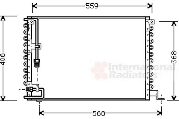 Condenseur, climatisation - VAN WEZEL - 59005073
