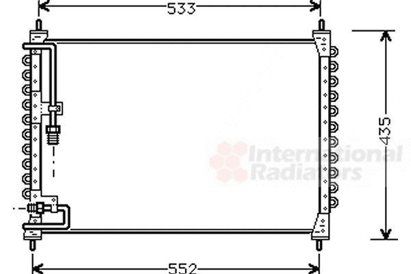 Condenseur, climatisation - VAN WEZEL - 59005074