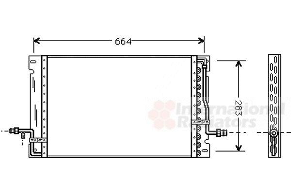 Condenseur, climatisation - VAN WEZEL - 59005076