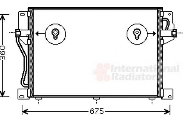 Condenseur, climatisation - VAN WEZEL - 59005077