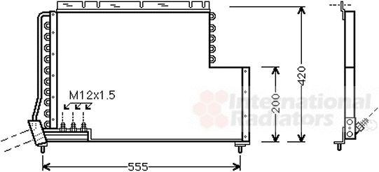 Condenseur, climatisation - VAN WEZEL - 59005078