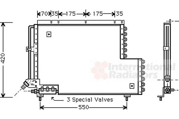 Condenseur, climatisation - VAN WEZEL - 59005081