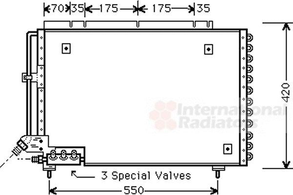 Condenseur, climatisation - VAN WEZEL - 59005082