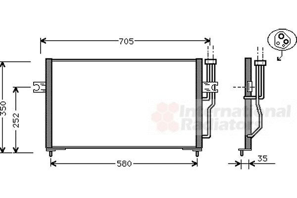 Condenseur, climatisation - VAN WEZEL - 59005086