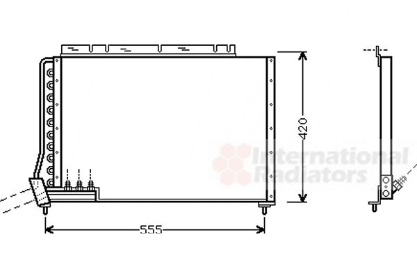 Condenseur, climatisation - VAN WEZEL - 59005090