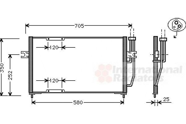 Condenseur, climatisation - VWA - 88VWA59005094