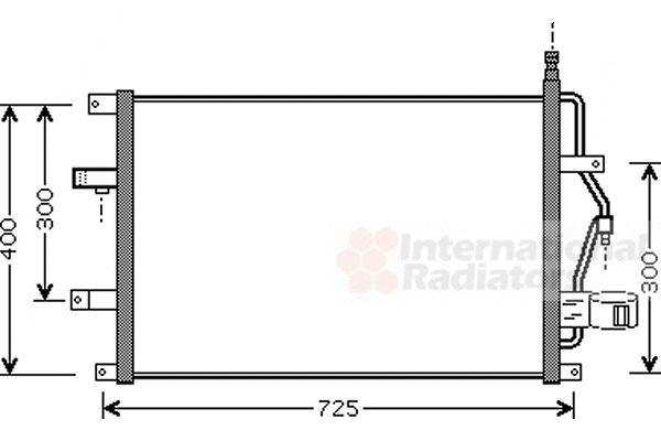 Condenseur, climatisation - VAN WEZEL - 59005107