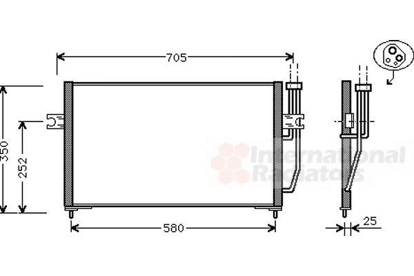 Condenseur, climatisation - VWA - 88VWA59005128