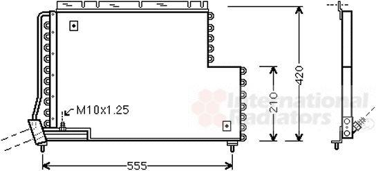 Condenseur, climatisation - VAN WEZEL - 59005131