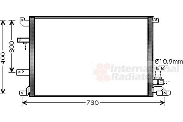 Condenseur, climatisation - VAN WEZEL - 59005138