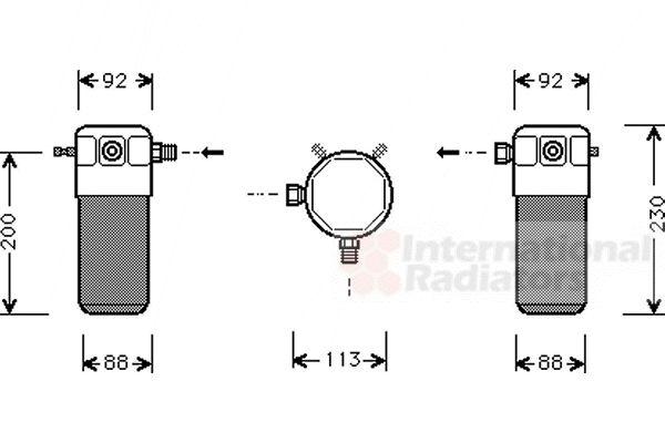 Filtre déshydratant, climatisation - VAN WEZEL - 5900D099