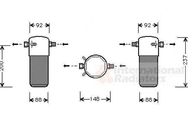 Filtre déshydratant, climatisation - VAN WEZEL - 5900D100