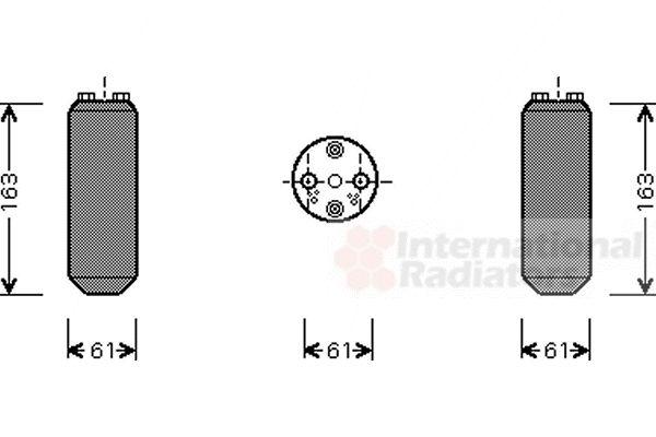 Filtre déshydratant, climatisation - VAN WEZEL - 5900D104