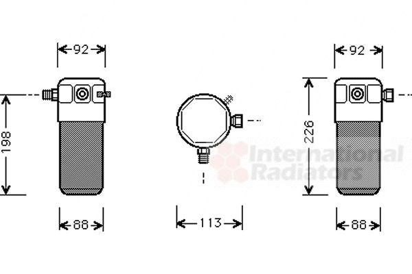 Filtre déshydratant, climatisation - VAN WEZEL - 5900D105