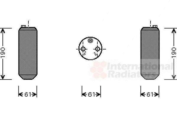Filtre déshydratant, climatisation - VAN WEZEL - 5900D108