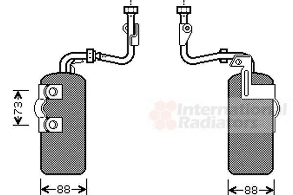 Filtre déshydratant, climatisation - VAN WEZEL - 5900D126