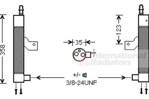 Filtre déshydratant, climatisation - VAN WEZEL - 5900D146
