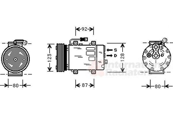 Compresseur, climatisation - VAN WEZEL - 5900K029