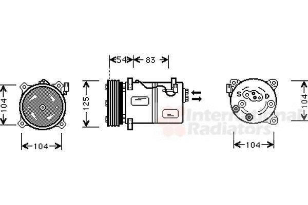 Compresseur, climatisation - VAN WEZEL - 5900K030