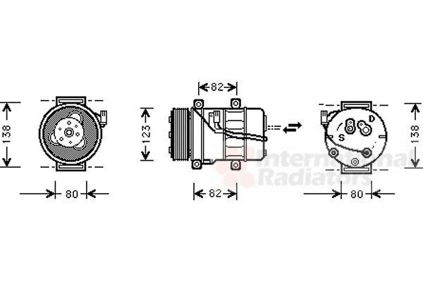 Compresseur, climatisation - VAN WEZEL - 5900K054