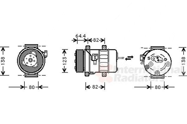 Compresseur, climatisation - VAN WEZEL - 5900K113