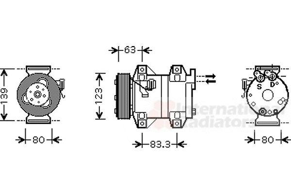 Compresseur, climatisation - VAN WEZEL - 5900K121