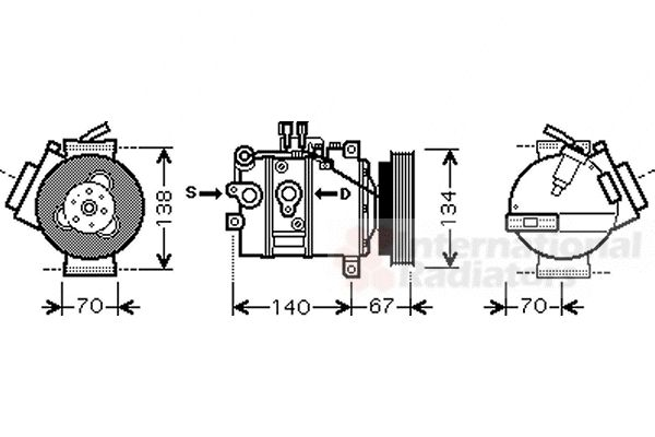 Compresseur, climatisation - VAN WEZEL - 5900K142