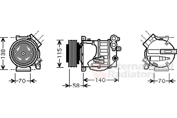 Compresseur, climatisation - VAN WEZEL - 5900K144