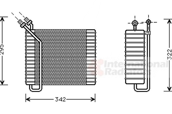 Evaporateur climatisation - VAN WEZEL - 5900V025