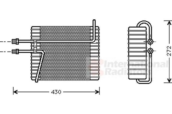 Evaporateur climatisation - VAN WEZEL - 5900V026