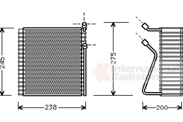 Evaporateur climatisation - VAN WEZEL - 5900V091