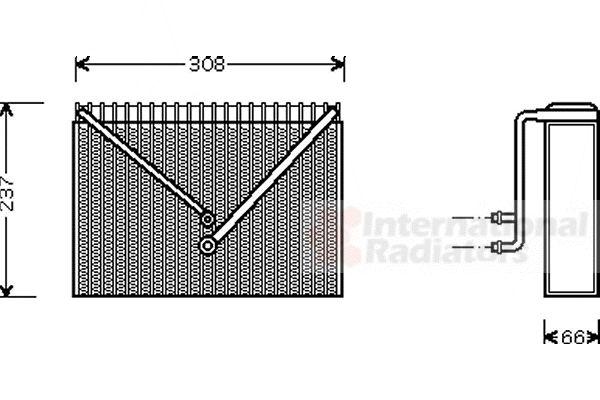 Evaporateur climatisation - VAN WEZEL - 5900V106