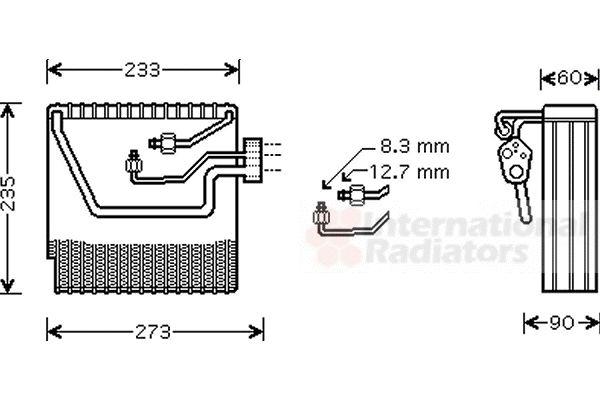 Evaporateur climatisation - VAN WEZEL - 5900V111